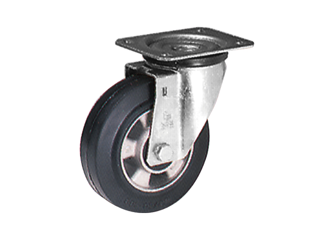 Series EZ ball bearing, Swivel castors M22 with plate fitting