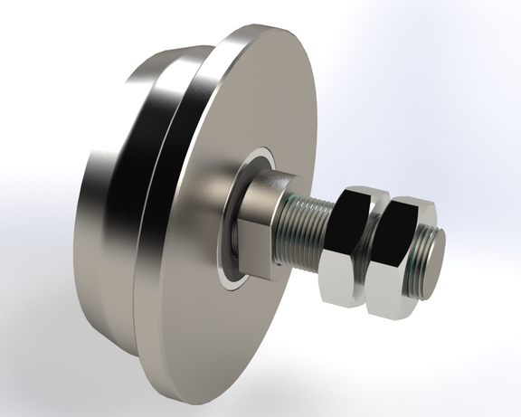 New in our product range: groove and flanged wheels with sha...