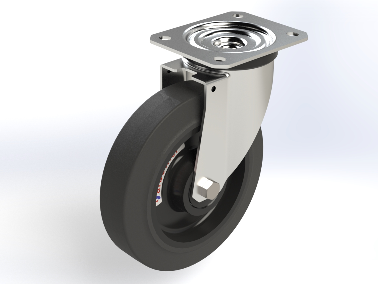 Series LA (Arbo) ball bearing, Swivel castors M22 with plate fitting