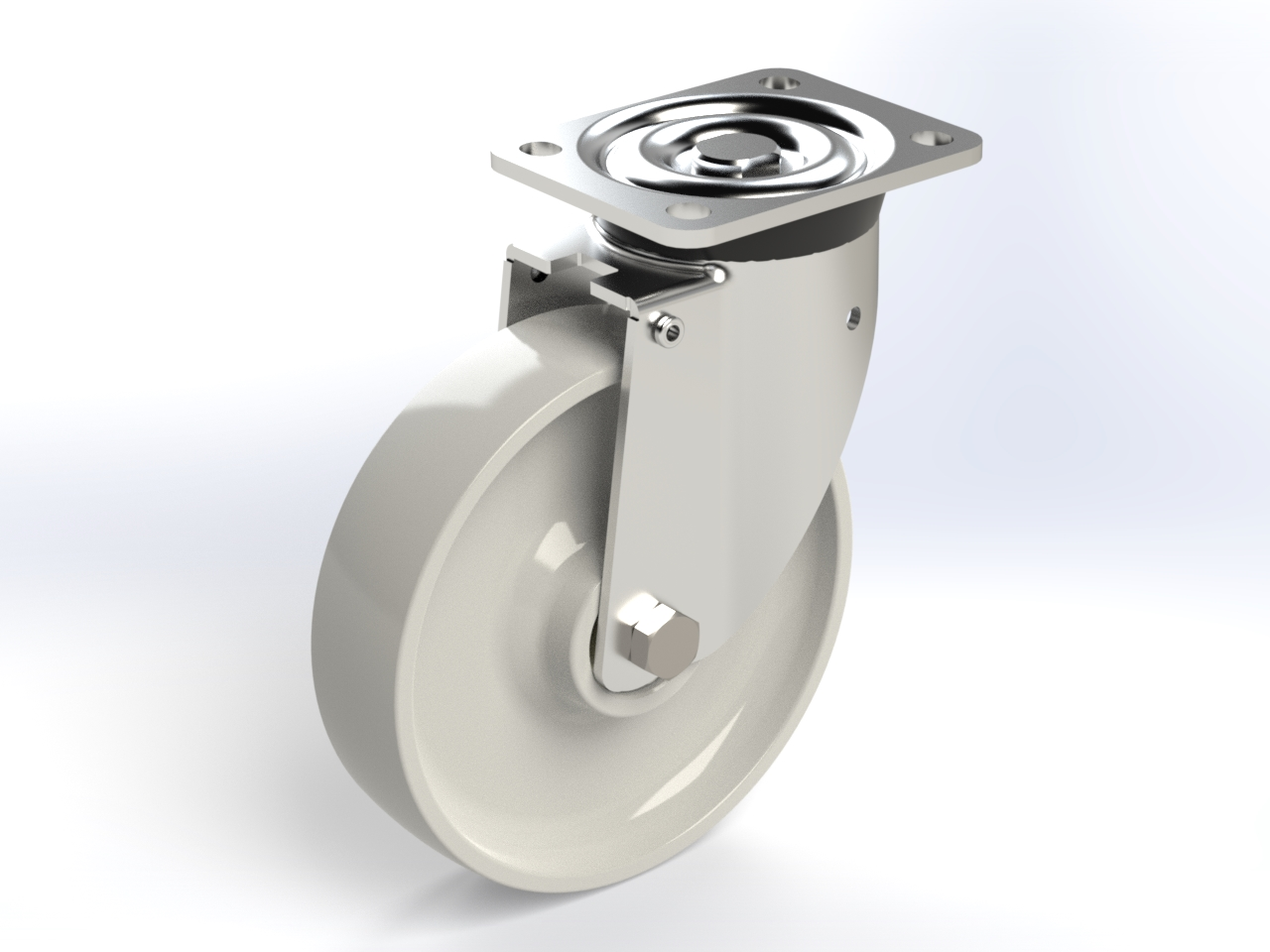 Series PZ ball bearing, Swivel castors P60 with plate fitting
