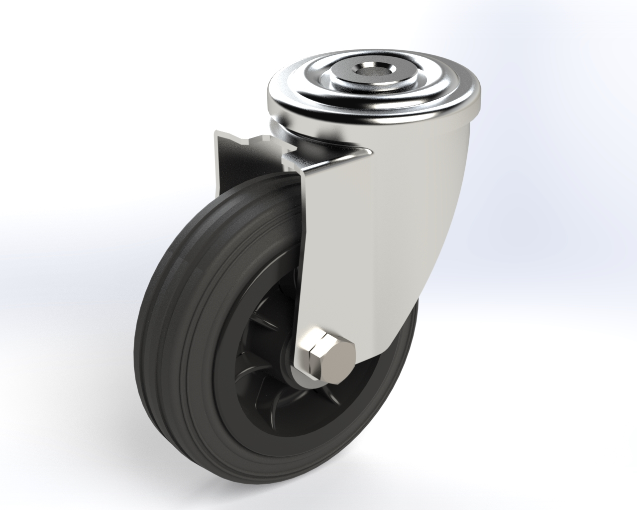 Series DZ roller bearing, Swivel castors M22 with bolt hole fitting