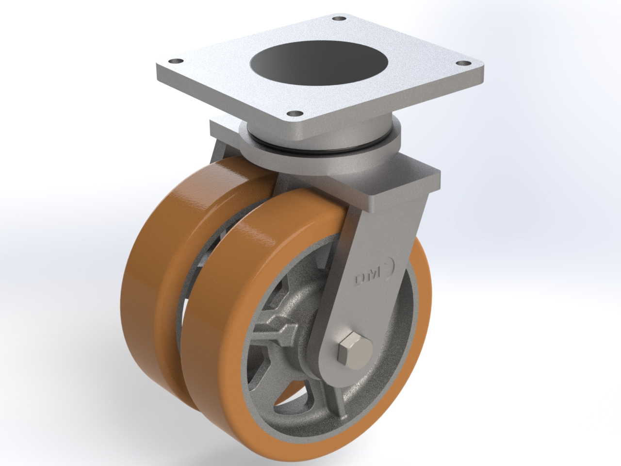 Series V ball bearing, Swivel castors SGD with plate fitting (thick tread)
