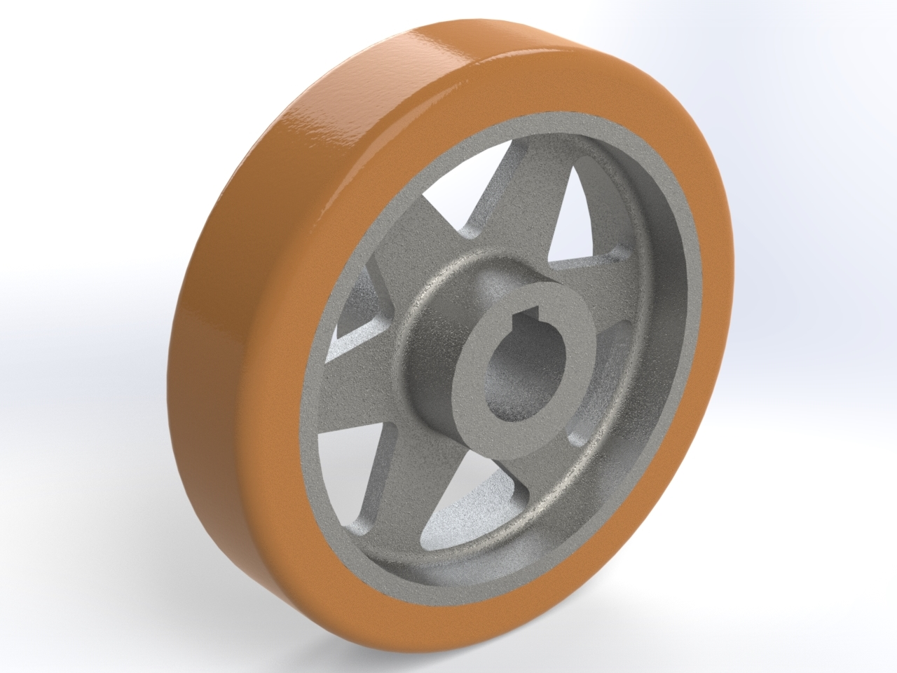 Series VS H7 bore with keyway, Drive wheels with thick tread (width <100mm)